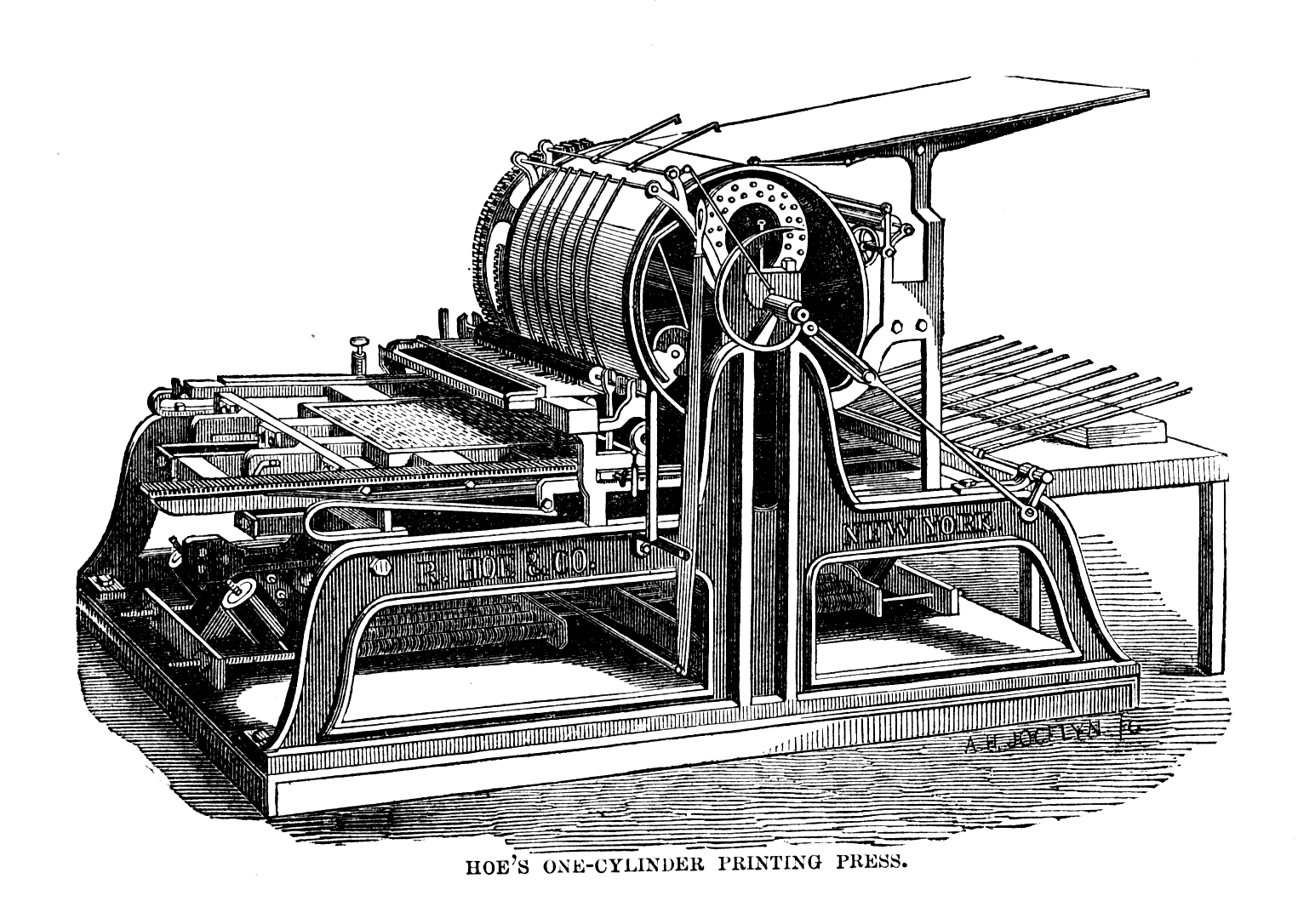 A Hoe press, of the type made famous by John McClanahan, editor of the Memphis Daily Appeal